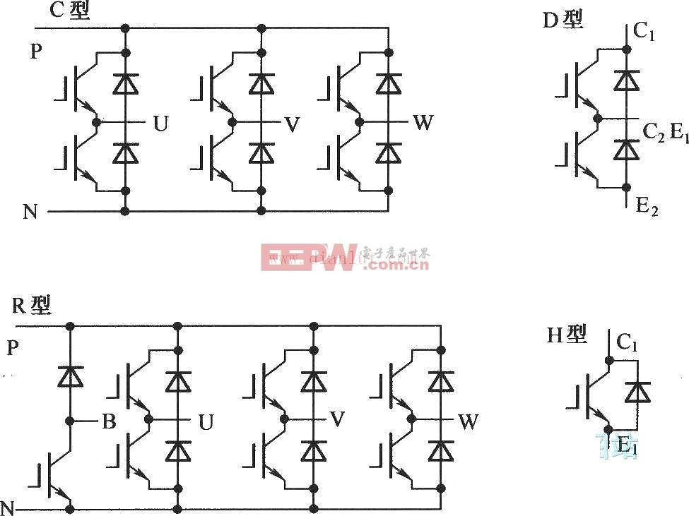 三菱公司IPM的封装形式电路