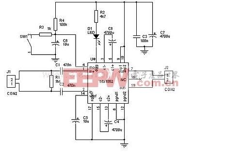 消防功率放大器电路图-DA1562Q功放电子电路图片