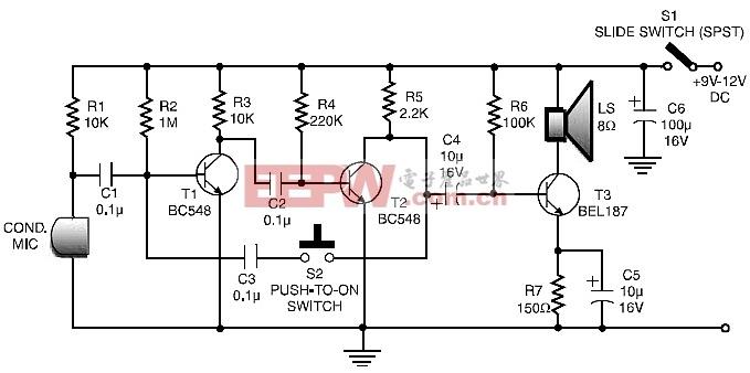 低成本和简单的对讲电路原理图图片