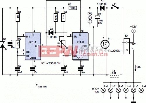 12V调光器电路图片