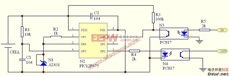多节串联电池的电压测量电路