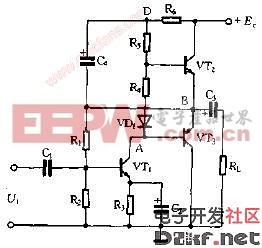 加人自举电路的OTL电路图图片