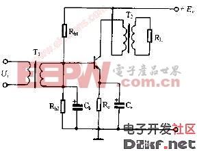 甲类功率放大器基本电路图