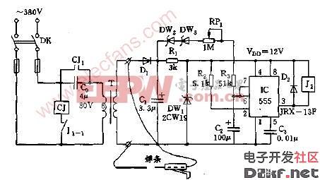 交流点焊机空载节电装置电路图图片