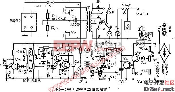 NB-100,200型逆变电源电路(国外电源电路)