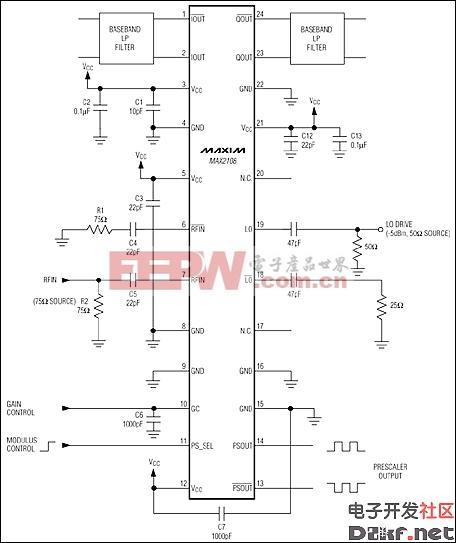MAX2108:典型工作电路