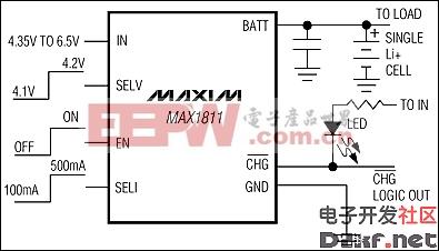 MAX1811:典型工作电路