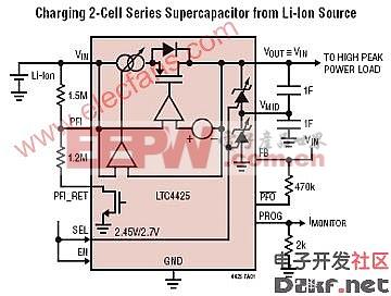 LTC4425应用电路(恒定电流/恒定电压线性充电器)