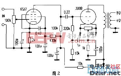 和其他直热式三极管(如2 a3等)的灯丝结构不相同,它的灯丝较长,灯丝首