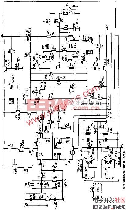 2*80W HI-FI功率放大器电路图