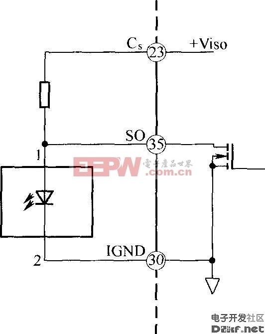 光纤发送器布线图  IGBT