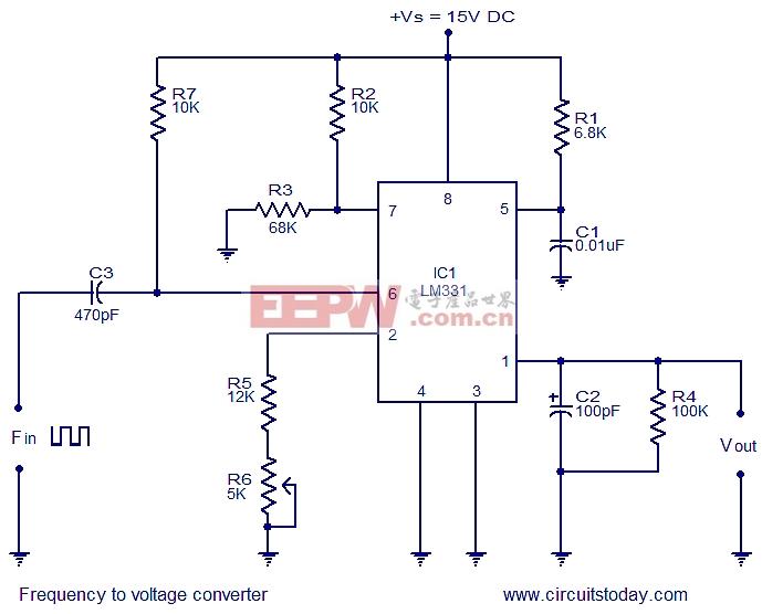 频率电压转换器,使用LM331