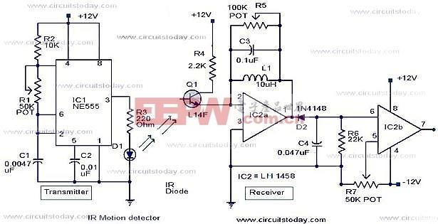 红外运动探测器电路