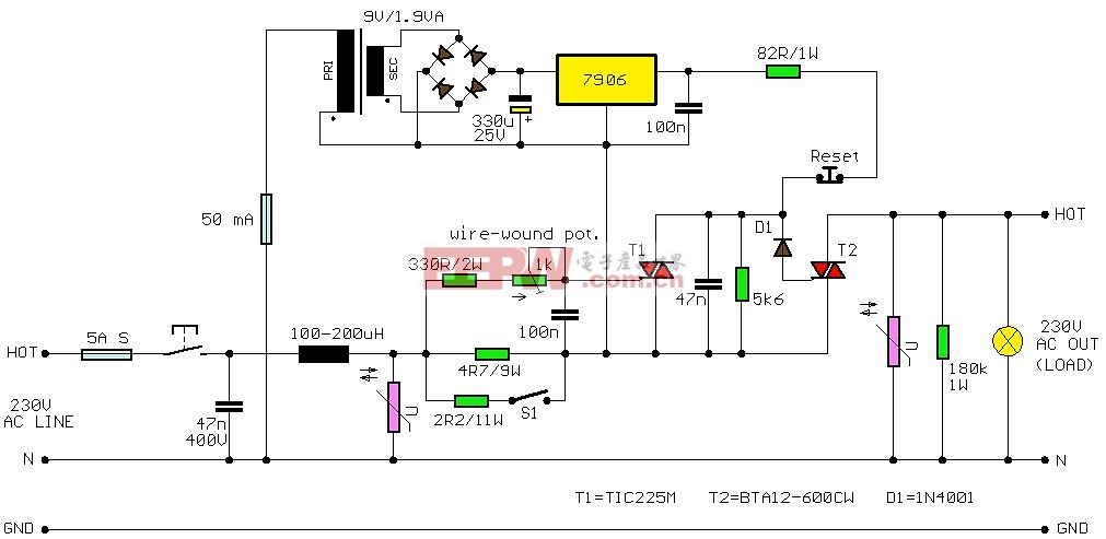 保险丝电路图       当 电流通过负载超过1k的绕线锅上的雨刮器位置