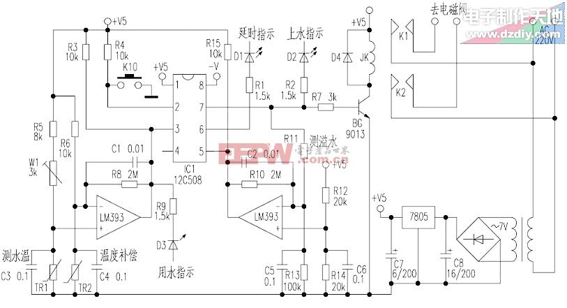 用PIC12C508制作太阳能热水自动控制器PIC12C508 for water heaters