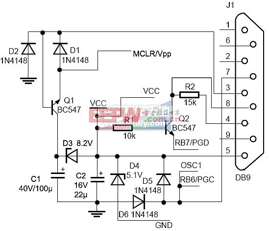 十分简单的PIC烧录器(编程器)-----PIC Microcontroller Programmer