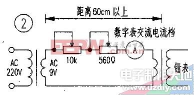 指针式交流钳形电流表的改装