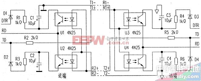 串口光电隔离转换器