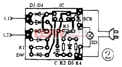 四脚霍尔元件电路图