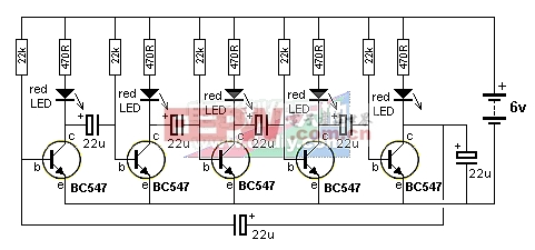 LED流水灯电路图 LED LAMP图片