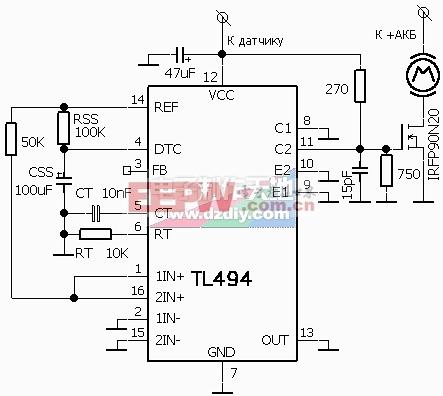TL494PWM电机调速电路TL494PWM Motor Speed Control Circuit