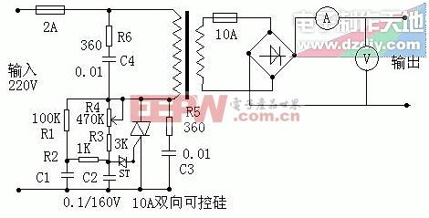 可控硅制作电瓶充电器SCR battery charger