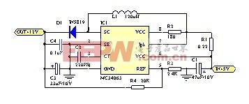 用MC34063做的单片机12伏编程电源-----MC34063 to make MCU power supply