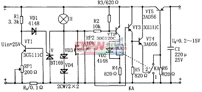 需要手动恢复工作的可调稳压电路-----Adjustable power supply
