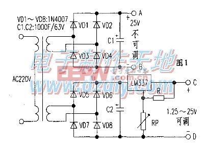 自制电动车可调稳压电源LM337 POWER SUPPLY