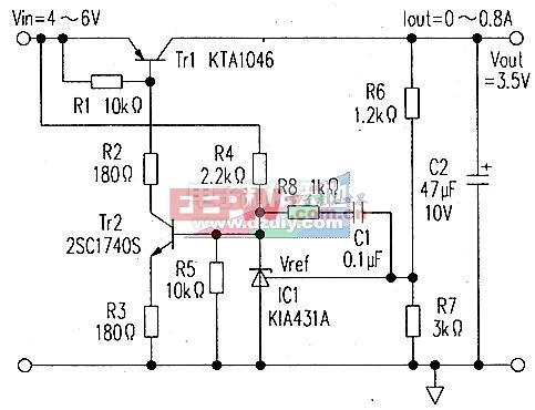 使用KTA431(TL431)的高精度稳压器电路图TL431 High-precision power supply