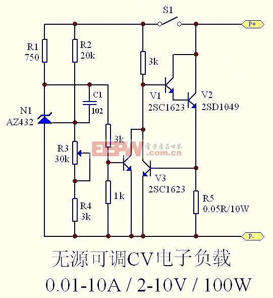 自制无源可调恒压电子负载-----adjustable electronic load
