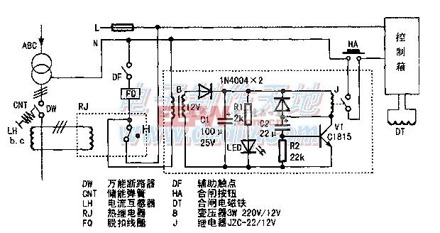 将彩电延时电路应用于重合闸Delay switch