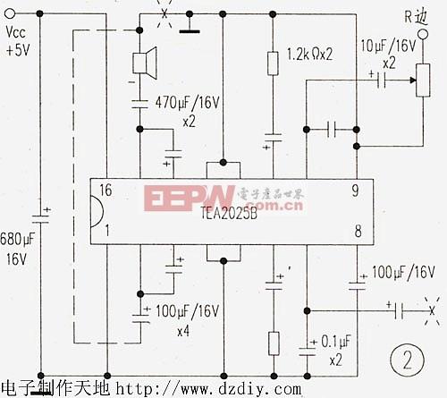 TEA2025功率放大器电路图