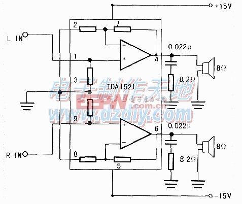 TDA1521功率放大器的设计与制作TDA1521 Amplifier