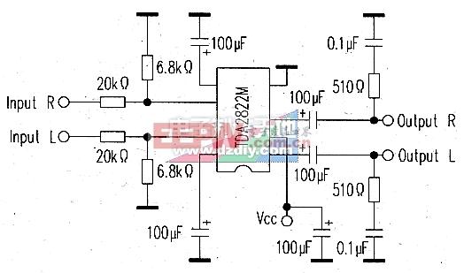用TDA2822为DM500接收机机增加音量TDA2822 AMPLIFIER