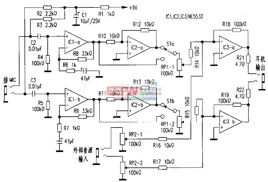 用NE5532运算放大器制作降噪耳机-----Noise Reduction Headphones Amplifier