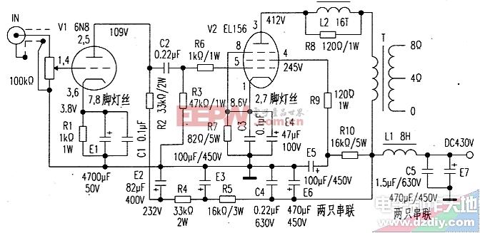 EL156自制电子管功放 EL156 AMPLIFIER图片