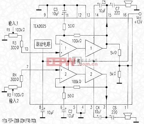 电子制作天地---TEA2025功放电路