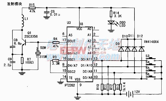 用AT89S52单片机设计制作的智能遥控开锁装置AT89S52 Remote lock