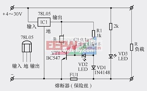 具有声光提醒功能的熔断器(保险丝)监控电路-----Fuse monitoring circuit