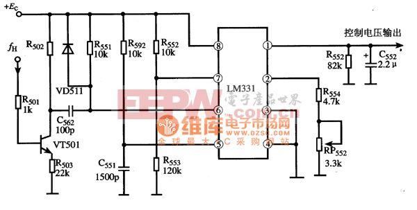LM331集成电路的典型应用电路图
