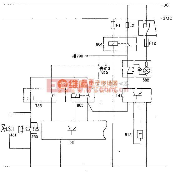 神龙一富康DC714OZX轿车空调原理电路图图片