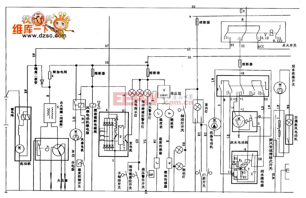 天津夏利7100电路图 高清图片