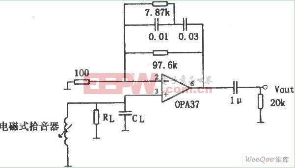 PA37构成的低噪声前置放大器电路图