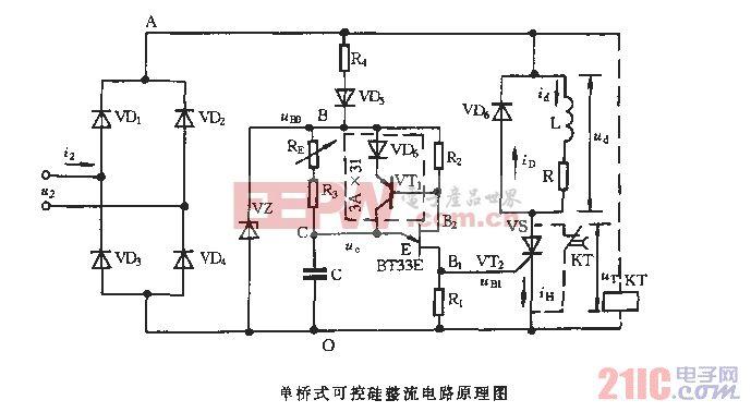 桥式可控硅 整流电路原理图 电路图 电子产品高清图片