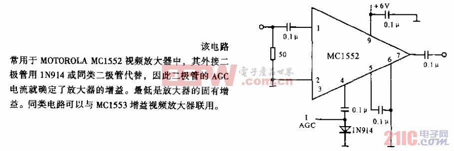 用外接二极管进行控制的AGC电路.gif