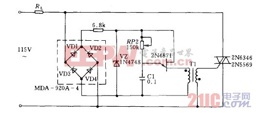 双向晶闸管交流调压电路02图片