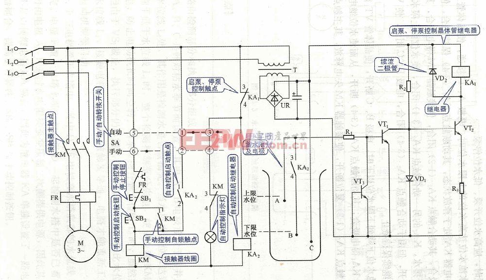 电路联动控制蓄水池水塔图解实用基本