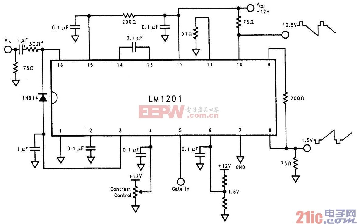 LM12O1视频放大器电路.jpg