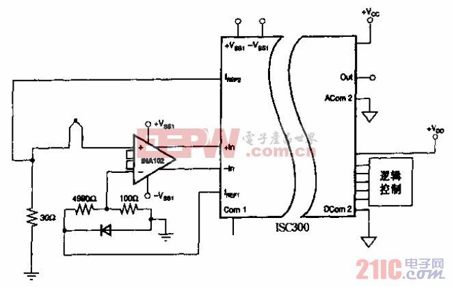 具有冷端补偿的热电偶温度测量电路.gif